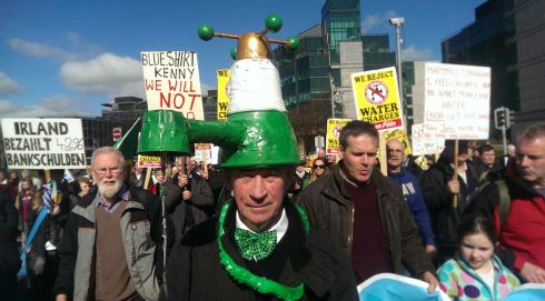 dublin water charge protest march 21st