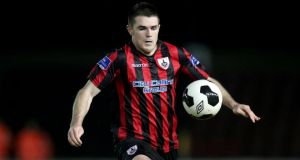 Longford Town's David O'Sullivan: scored twice against Limerick FC to secure Airtricity Premier League draw at Jackman Park. Photograph: Inpho