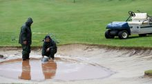 Madeira Islands Open: heavy rain meant no play was possible in the second and final round at Santo da Serra. Photograph: Ross Kinnaird/Getty Images