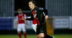 Bohemians captain Derek Pender: his side remains top of the table on goal difference ahead of Tuesday night's visit of champions Dundalk to Dalymount Park
