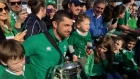 The Irish rugby team recieve a hero's welcome as they arrive back into Dublin Airport after their Six Nations win. Video: Ronan McGreevy