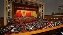 The 12th National People's Congress (NPC) at the Great Hall of the People in Beijing, China recently. The NPC, the annual gathering of senior Communist Party cadres from all over China to listen to the leadership's plans for the next 12 months, was a more muted affair than in previous years, but it gave valuable signals as to what kind of business environment Irish companies can expect in future. Photograph: Tomohiro Ohsumi/Bloomberg