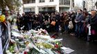 'It is important for us at this time of great sadness to stand together and process this horrific incident in a way that is fair and reasonable.' Above, flowers are left close to the 'Charlie Hebdo'  offices on a day of mourning following a terrorist attack at the  building in January. Photograph: Marc Piasecki/Getty Images