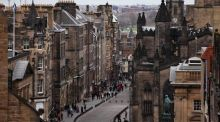 The Royal Mile,  Edinburgh. Photograph:  Jeff J Mitchell/Getty Images