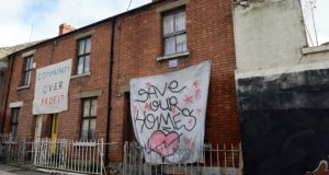 The High Court case surrounding houses on  Grangegorman Road Lower has been adjourned for 24 hours. Photograph: Eric Luke