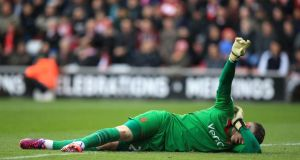 "Southampton have announced that England goalkeeper Fraser Forster will miss the rest of the season after ""successful surgery"" on his left knee. Photograph: John Walton/PA"