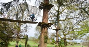 Zipit highwire in Lough Key Forest Park, Co Roscommon