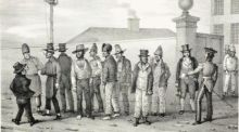 A government jail gang in Sydney in 1830 by Augustus Earle.National Library of Australia