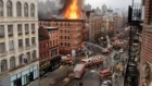 NYC building engulfed in flames after apparent gas explosion