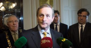 Taoiseach Enda Kenny has pledged to renew pressure on the British government to agree to an inquiry into the August 1971 Ballymurphy killings which resulted in 11 killings. Photograph: Gareth Chaney Collins