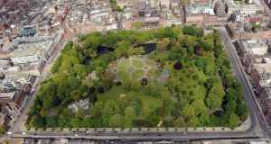 St Stephens Green, Dublin city. Photograph: Air Corps 105 Squadron