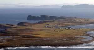 Tory Island, off the coast of Co Donegal. Photograph: Air Corps 105 Squadron