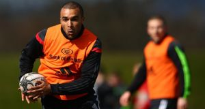 Simon Zebo has returned from international duty to the Munster team. Photograph: Cathal Noonan/Inpho