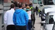 Dublin dole queue: jobless rate is likely to have fallen slightly to 10 per cent. Photograph: Aidan Crawley