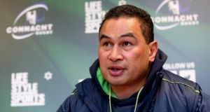 Connacht coach Pat Lam has had to utilise his full squad for the Pro12 game at Thomond Park against Munster. Photograph: James Crombie/Inpho.