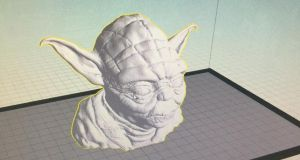 Yoda from Star Wars: Thingiverse had the 3D model available for free download