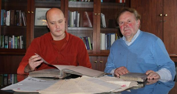 Dr Vincent O'Connell (left) of University of Limerick's history department, and Tom Wall, author of The Last Boy in Glin Industrial School.