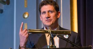 Eamon Ryan, Green Party leader, was critical of Taoiseach Enda Kenny for the position he has taken on Greece. Photograph:  Dylan Vaughan.