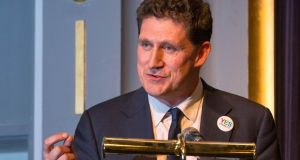 Green Party Leader Eamon Ryan addresses the Green Party conference in Kilkenny. Photograph: Dylan Vaughan