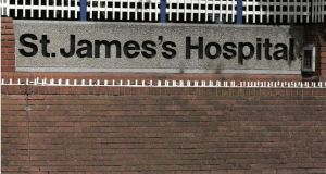 St James's Hospital made  an application to the Department of Health in May 2014 that  chief executive Brian Fitzgerald be allowed to  retain a €30,000 allowance for lecturing on top of his salary. Photograph: Dara Mac Dónaill