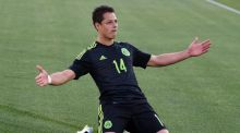Javier Hernandez has complained about a lack of playing time at Real Madrid. Photograph: Getty