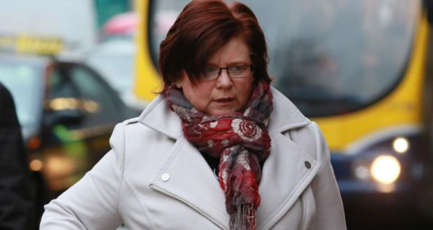 Marie Farrell arriving at the Four Courts in December 2014. Photograph: Collins