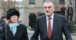 Jules Thomas and Ian Bailey pictured leaving the Four Courts earlier this month. Photograph: Collins.