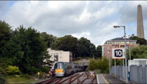 A train enters the tunnel at Heuston Station going under Phoenix Park. Photograph: Brenda Fitzsimons