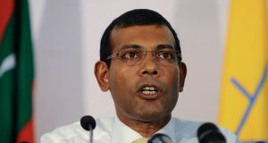 CORRECT: The Maldives were in the news as its first democratically elected president, Mohamed Nasheed, was sentenced to 13 years in jail