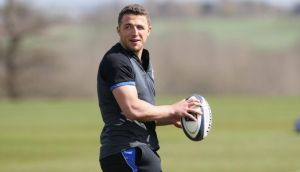 Sam Burgess is set to play alongside Jonathan Joseph in Bath's midfield for Saturday's European Champions Cup game against Leinster at the Aviva stadium on Saturday. Photograph:   David Rogers/Getty Images