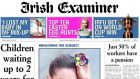 Circulation for the Irish Examiner has fallen  with the newspaper selling an average of 34,424 copies in the second half of 2014, down 7 per cent year on year