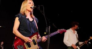 Kim Gordon  and Thurston Moore of Sonic Youth perform  in New York in 2009. Photograph: Mark Von Holden/Getty Images