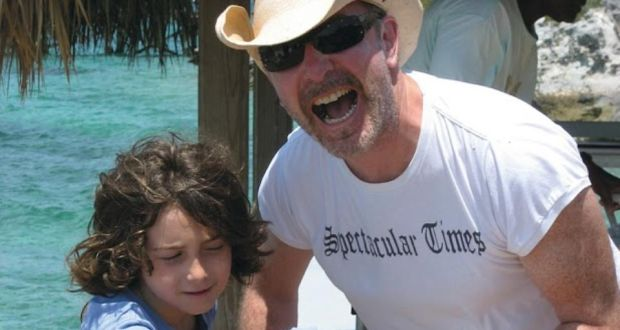 0476f4431ef U2 guitarist The Edge (David Evans) with his son