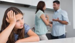If you do have a minor disagreement with your partner in front of your daughter, show her how you can resolve this positively, and then repair any upset and stay connected. Photograph: Thinkstock