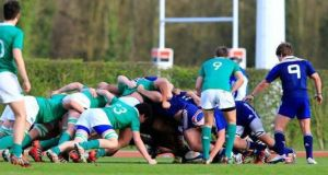 Ireland under-19s beat France 13-10 in Marcoussis. Photograph: FFR