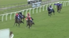 Amateur jockey Lewis Ferguson suffers a spectacular fall at a horse race in England but walks away without a scratch. Video: Racing UK/Reuters