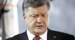 "Ukraine president Petro Poroshenko has ordered officials to ""create conditions to allow the ATR channel to work in Ukraine"". Photograph: Simon Dawson/Bloomberg"