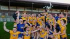 Roscommon  celebrate their victory over Galway in the EirGrid Connacht under-21 Football Final at  Tuam Stadium. Photograph: Mike Shaughnessy/Inpho