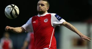 Conan Byrne scored St Patrick's Athletic's equalising goal on his 100th appearance for the club against Longford Town. Photograph:  Donall Farmer/Inpho
