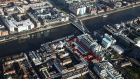 The 0.72 hectare site at Sir John Rogerson's Quay fronts on to the river Liffey and Samuel Beckett Bridge, and continues down along Lime Street