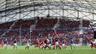 Jocelino Suta of Toulon wins the lineout during last year's Heineken Cup semi-final between the French side and Munster at the Stade Velodrome in Marseille. Photoraph: David Rogers/Getty Images.