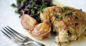 Lemon & Garlic poached chicken