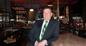 Kieran McGill's chain of 16 Irish pubs in the US employs: almost 700 people and has an annual turnover of $40 million