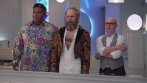 Bewildered audience members were seen to visibly age during Hot Tub Time Machine 2
