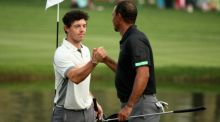 Rory McIlroy and Tiger Woods tee off at 7.30pm on the final day of The Masters. Photogarph: Getty
