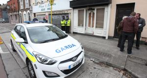 Gardaí have also begun house to house inquiries in an effort to establish if any residents heard or saw anything of interest around the time of the stabbing. Photograph: Stephen Collins/Collins Photography