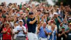 Jordan Spieth held off the chasing pack with ease to win his first Major title. Photograph: Epa