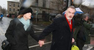 Jules Thomas and Ian Bailey pictured leaving the Four Courts last month dafter the verdict in his High Court action for damages. Photograph: Courts Collins