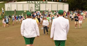 Masters patrons spend an estimated $45 (€43) million on merchandise throughout the week at Augusta. Photograph: Afp
