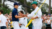 Former schoolteacher Michael Greller caddied for Jordan Spieth as he secured his maiden Major title. Photograph: Getty